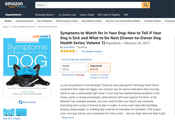 Symptoms to Watch for in Your Dog on Amazon